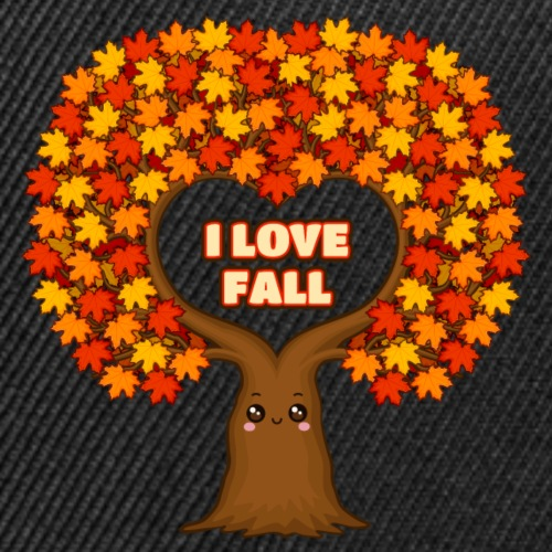 I Love Fall - Colorful Maple Tree | Indian Summer - Snap-back Baseball Cap