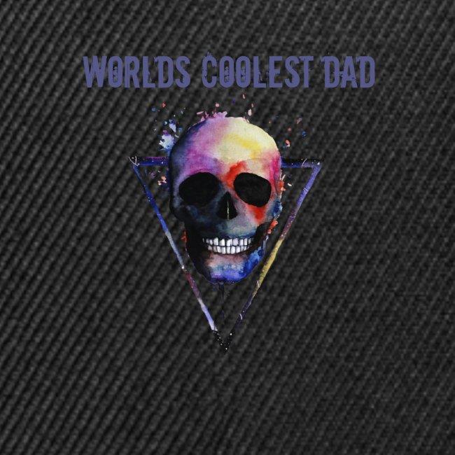 Worlds coolest dad skull Tee T shirt
