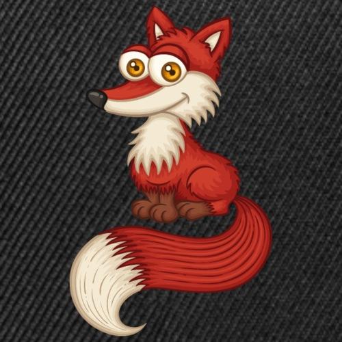 Cute Little Red Fox With Bushy Tail | Wood Hiking - Snap-back Baseball Cap