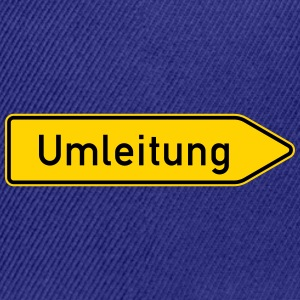 Umleitung Right - German Traffic Sign - Snap-back Baseball Cap