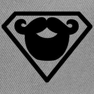 Superman beard - Snap-back Baseball Cap