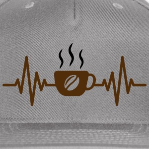 coffee heartbeat - Snap-back Baseball Cap
