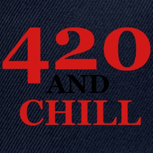 420 and chill - Snap-back Baseball Cap