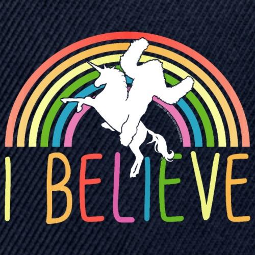 I Believe in Unicorns and Sasquatch Bigfoot - Snapback Baseball Cap