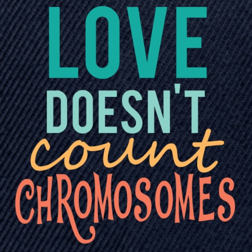 Love doesn't Count Chromosomes - Snapback Baseball Cap