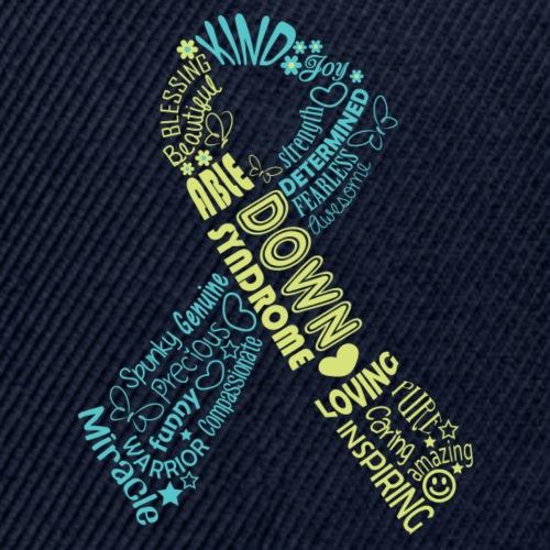 Down syndrome Ribbon Wordle - Snapback Baseball Cap