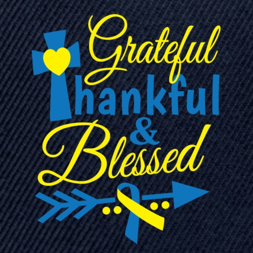 Grateful, Thankful & Blessed - Snap-back Baseball Cap