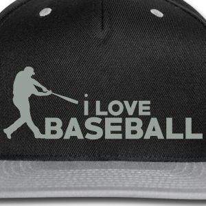 I Love Baseball - Snap-back Baseball Cap