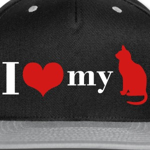 I love my Cat - Snap-back Baseball Cap