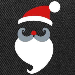 Santa_Clauss_Head - Snap-back Baseball Cap