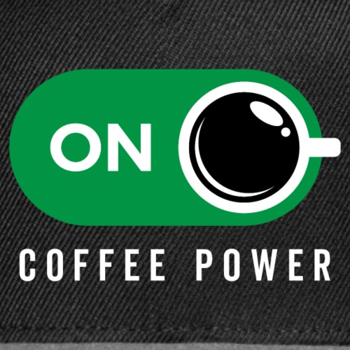 Coffe Power On - Snap-back Baseball Cap
