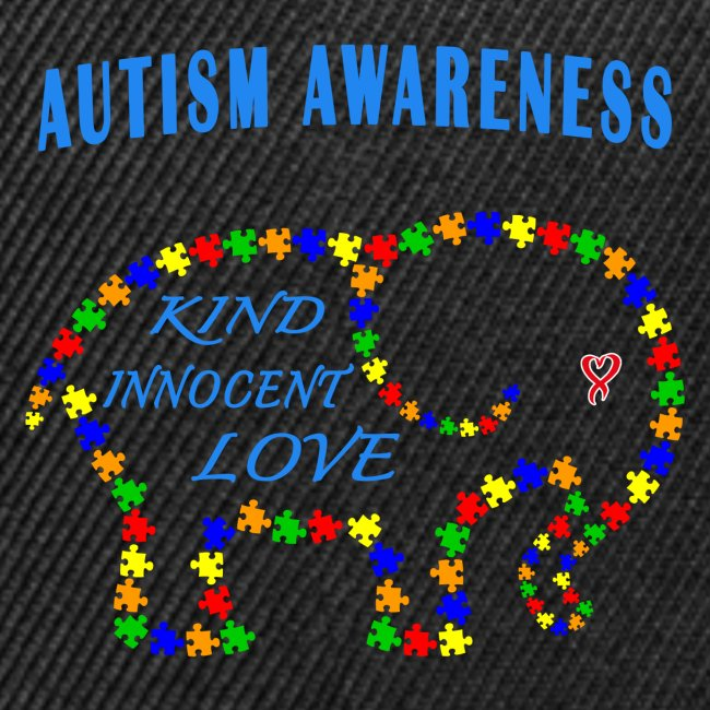 World Autism April Puzzle Heart Elephant Love Kids