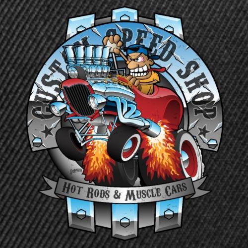 Custom Speed Shop Hot Rods and Muscle Cars Illustr - Snap-back Baseball Cap