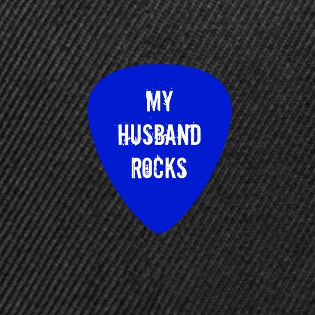 my Husband rocks rocks Guitar Pick Design .