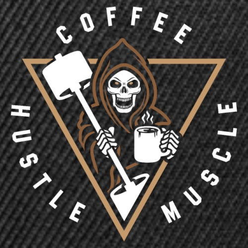 Coffee Hustle Muscle Grim Reaper - Snap-back Baseball Cap