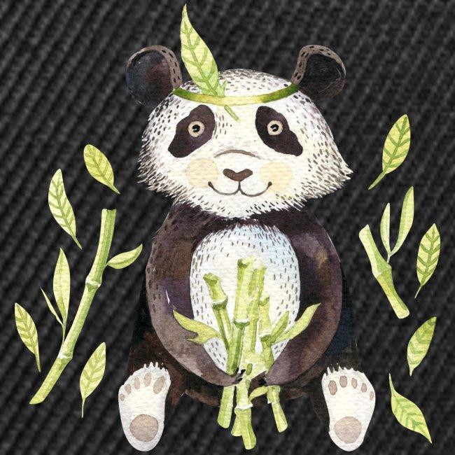 Panda sitting in folage