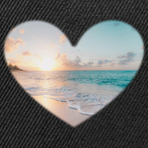 Heart Abstract Beach - Snap-back Baseball Cap