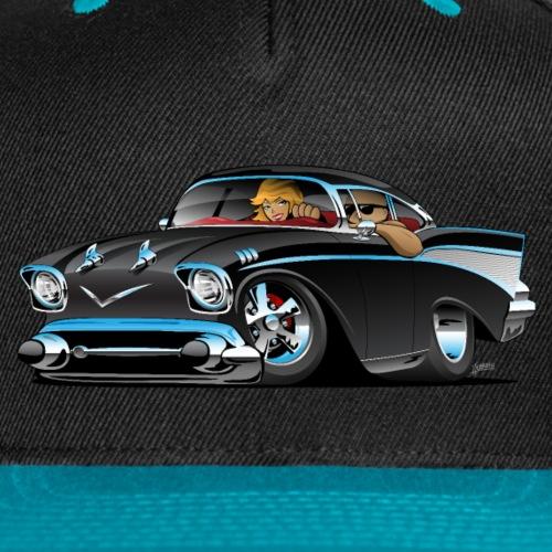 Classic hot rod fifties muscle car - Snap-back Baseball Cap