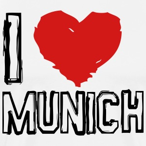 I LOVE MUNICH - Men's Premium T-Shirt