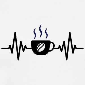 coffee heartbeat - Men's Premium T-Shirt