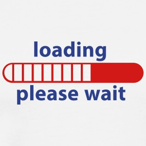 Loading Please Wait New Technologies Icon 2c Sales - Men's Premium T-Shirt