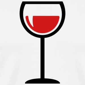 wine glass - drink - Men's Premium T-Shirt