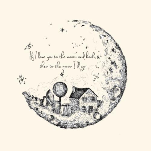 House On The Moon - Men's Premium T-Shirt