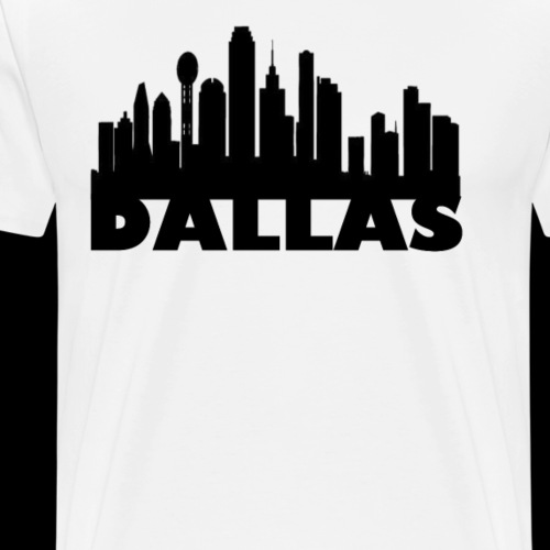 Dallas Skyline Basic Tee - Men's Premium T-Shirt