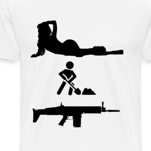Chicks Dig SCARs - Men's Premium T-Shirt