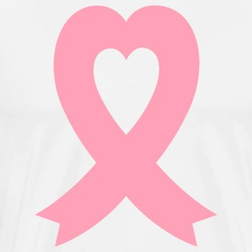 Pink Ribbon Heart - Men's Premium T-Shirt