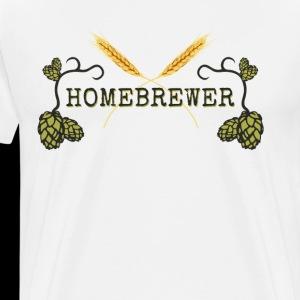 Homebrewer Sign - Men's Premium T-Shirt