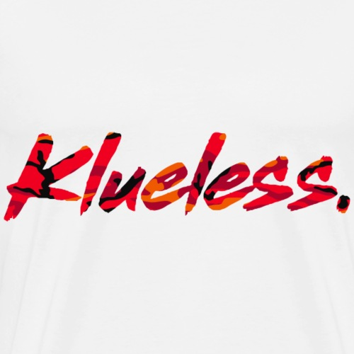 Klueless Logo.RED Edition - Men's Premium T-Shirt