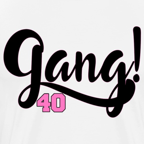 Gang 40 - Black/Pink - Men's Premium T-Shirt