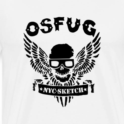 OSFUG Skull black - Men's Premium T-Shirt