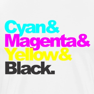 Cyan and Magenta and Yellow and Black - Men's Premium T-Shirt