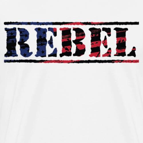Rebel Distorted Flag - Men's Premium T-Shirt