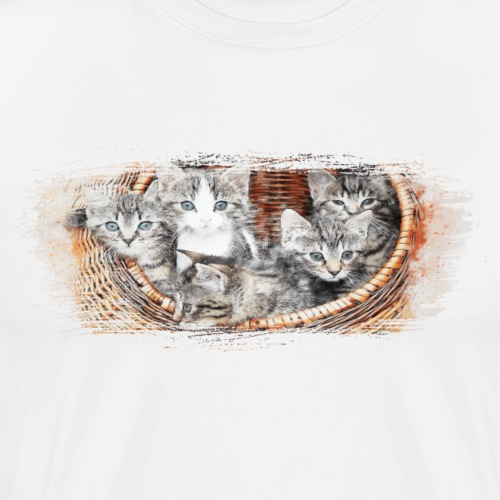 Basket full of kittens - Men's Premium T-Shirt