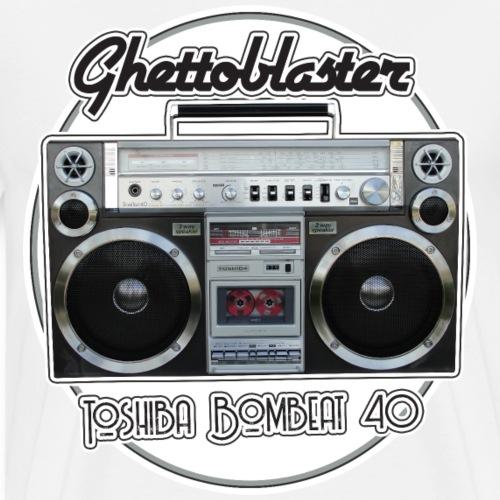 Boombox Toshiba RT-S913 BomBeat 40 Ghettoblaster - Men's Premium T-Shirt