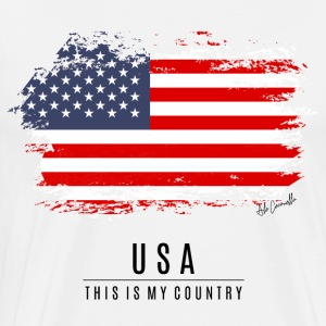 USA FLAG - THIS IS MY COUNTRY - Men's Premium T-Shirt