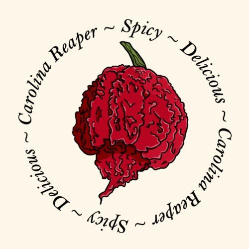 Carolina Reaper Chili Chilli Pepper Hot Spicy - Men's Premium T-Shirt