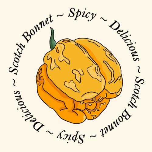 Moa Scotch Bonnet Chili Chilli Pepper Hot Spicy - Men's Premium T-Shirt