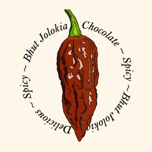 Bhut Jolokia Chocolate Chili Chilli Ghost Pepper - Men's Premium T-Shirt