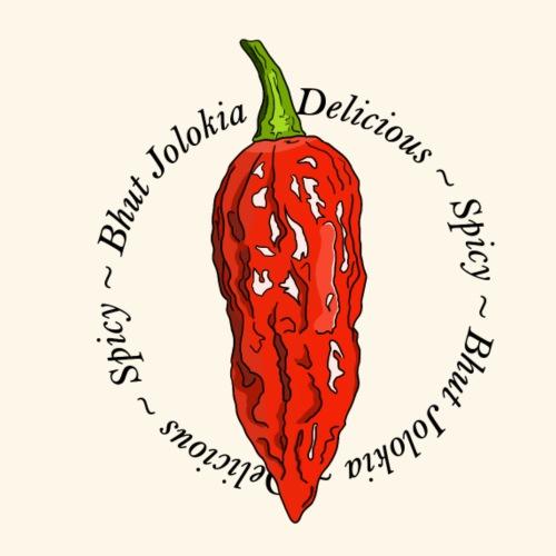 Bhut Jolokia Chili Chilli Ghost Pepper Spicy - Men's Premium T-Shirt