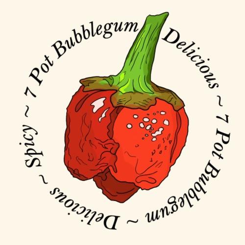 7 Pot Bubblegum Chili Chilli Pepper Spicy Hot - Men's Premium T-Shirt