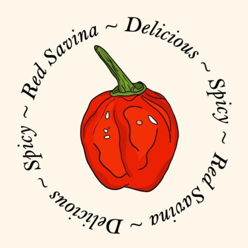 Red Savina Chili Pepper Scharf Spicy - Men's Premium T-Shirt