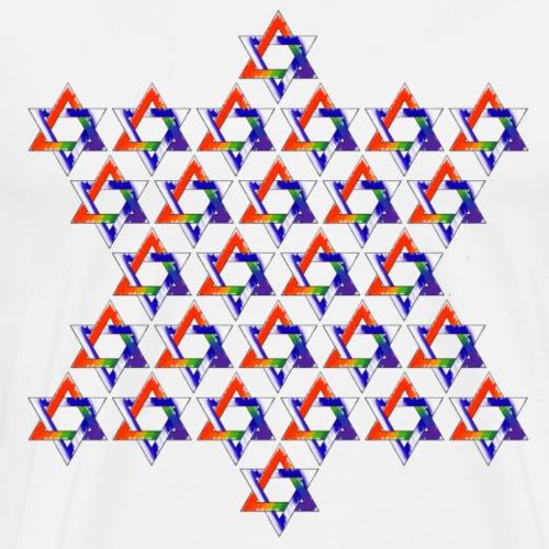 Gay Jewish Stars Star - Men's Premium T-Shirt