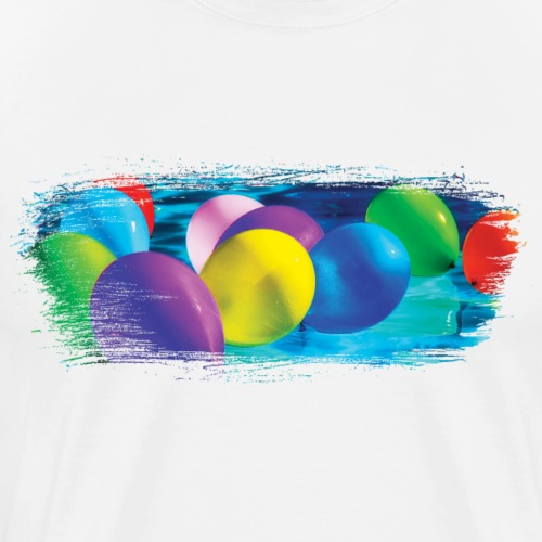 Party Balloon Artistic Swash - Men's Premium T-Shirt
