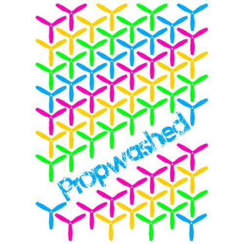 Propwashed Prop Pattern (Rainbow-Blue) - Men's Premium T-Shirt
