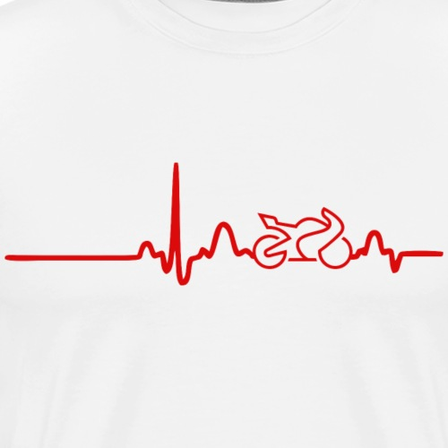 EKG HEARTLINE BIKE red - Men's Premium T-Shirt