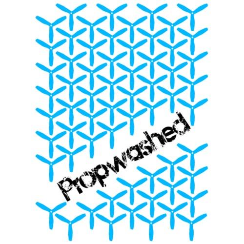 Propwashed Prop Pattern (Blue-Black) - Men's Premium T-Shirt